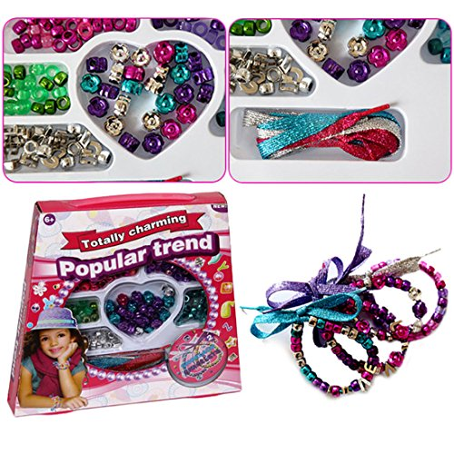 [Jewelry Making Bead Set - Includes Assorted Color Beads & Beading Shoe Strings For Customized Necklaces & Bracelets - Gift Ready Packaging - By Dazzling] (Diy Cute Costumes For Teenagers)