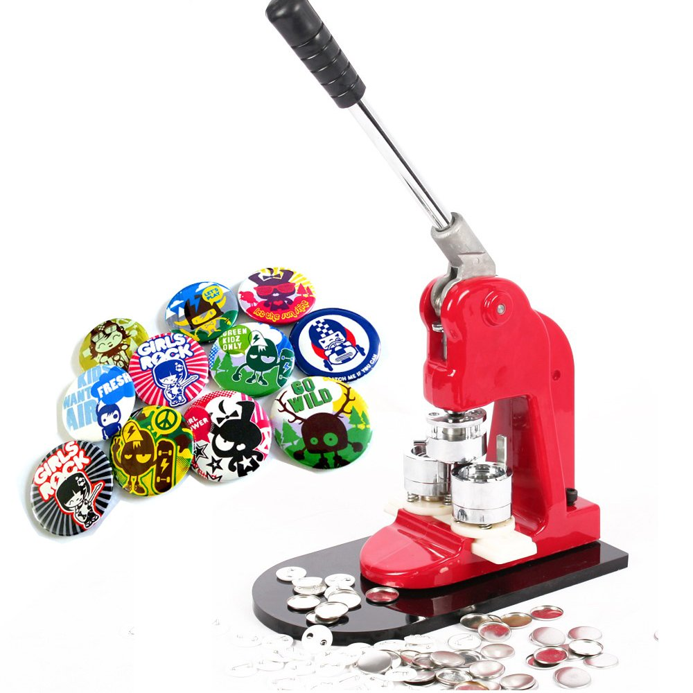 VEVOR Machine Badge with Button Parts and Circle Cutter Button Maker, 500 Piece