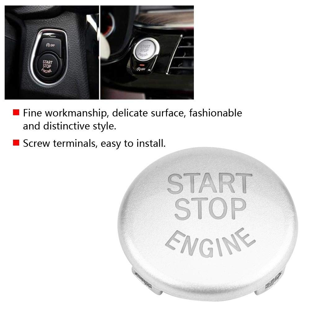 3 Types ABS Push Button Car Engine Start Stop Switch Button Replace Cover For BMW F//G//E Chassis E Chassis