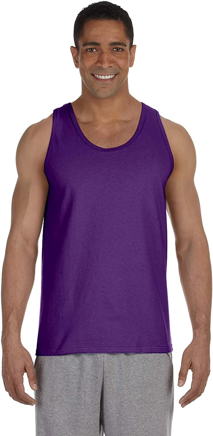 Gildan Men's Preshrunk Banded Bottom Hem Tank Top