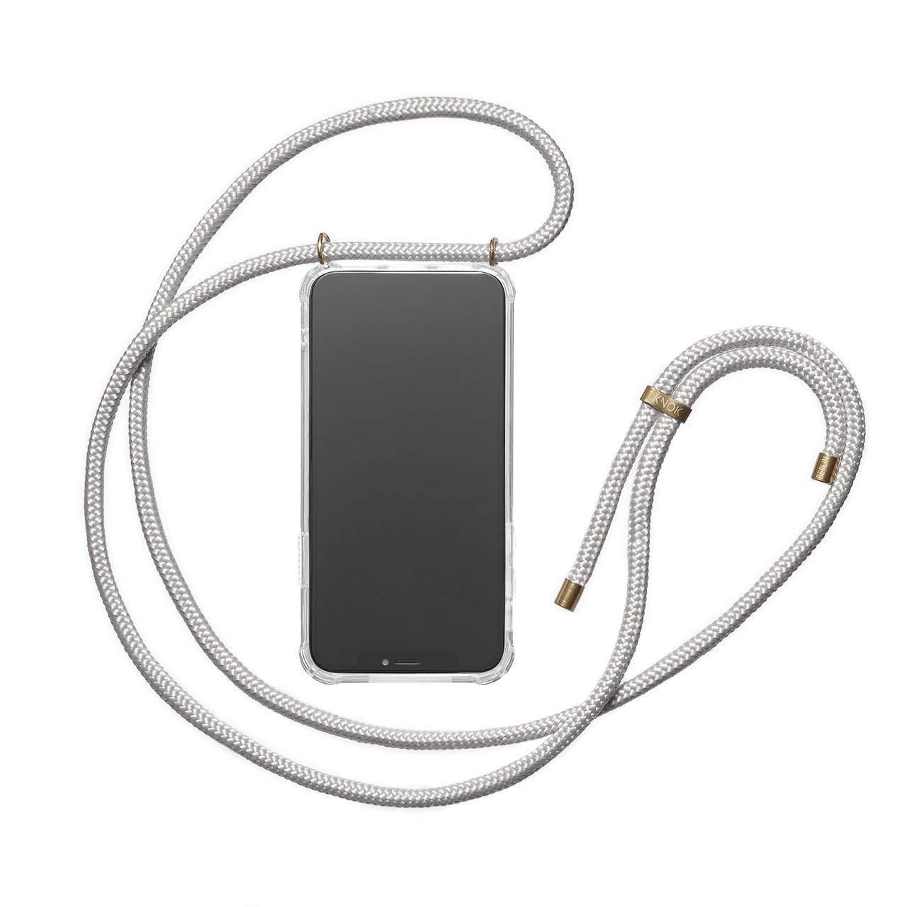KNOK Funda Colgante movil con Cuerda para Colgar iPhone XR con Cordon para Llevar en el Cuello Hecho a Mano en Berlin Case Carcasa de m/óvil iPhone Samsung Huawei con Correa Colgante