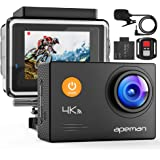 APEMAN A79 4K Action Camera 20MP WiFi External Microphone Remote Control Underwater 40M Waterproof