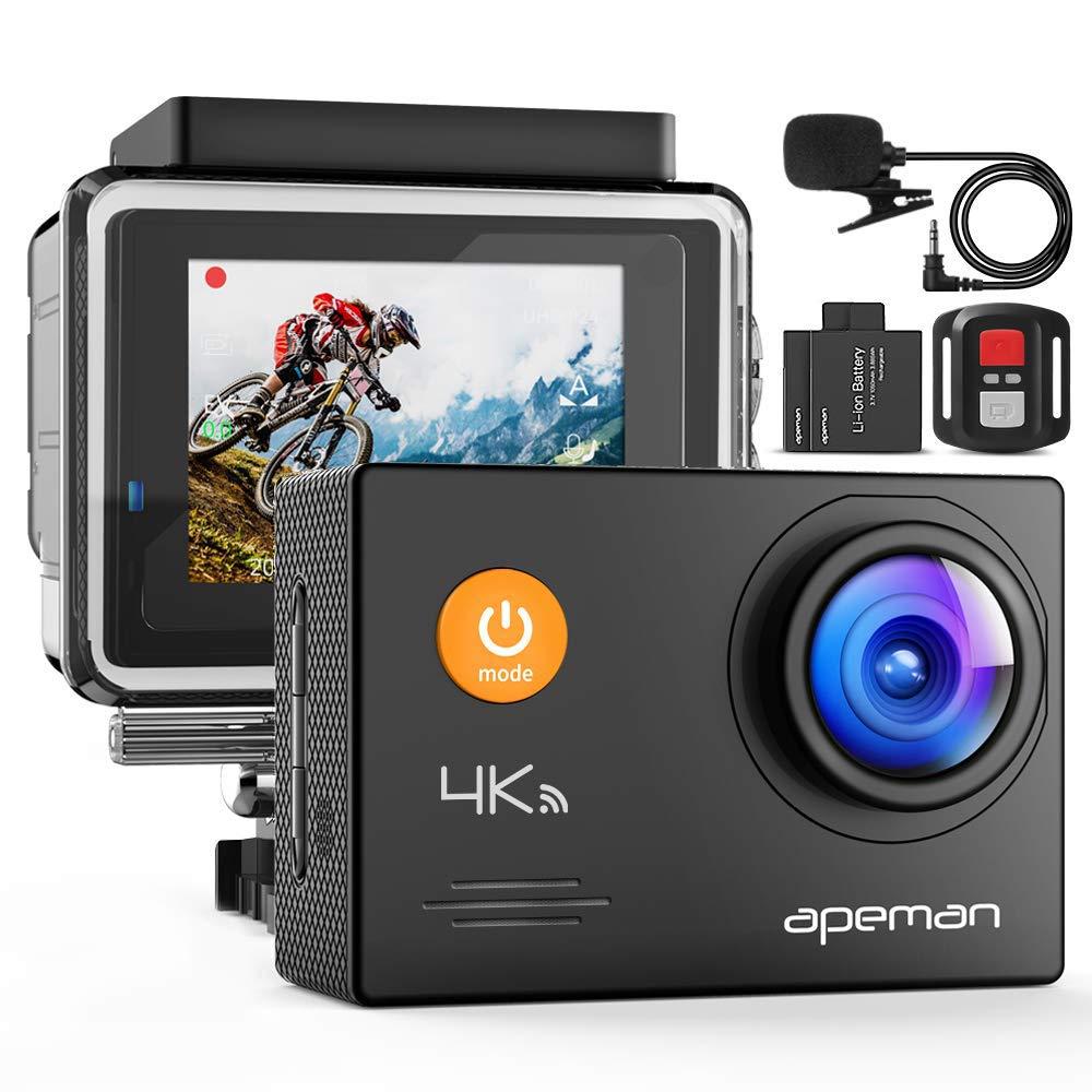 APEMAN A79 4K Action Camera 16MP WiFi External Microphone Remote Control Underwater 40M Waterproof by APEMAN