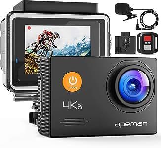 APEMAN A79 4K Action Camera 20MP WiFi External Microphone Remote Control Underwater 40M Waterproof