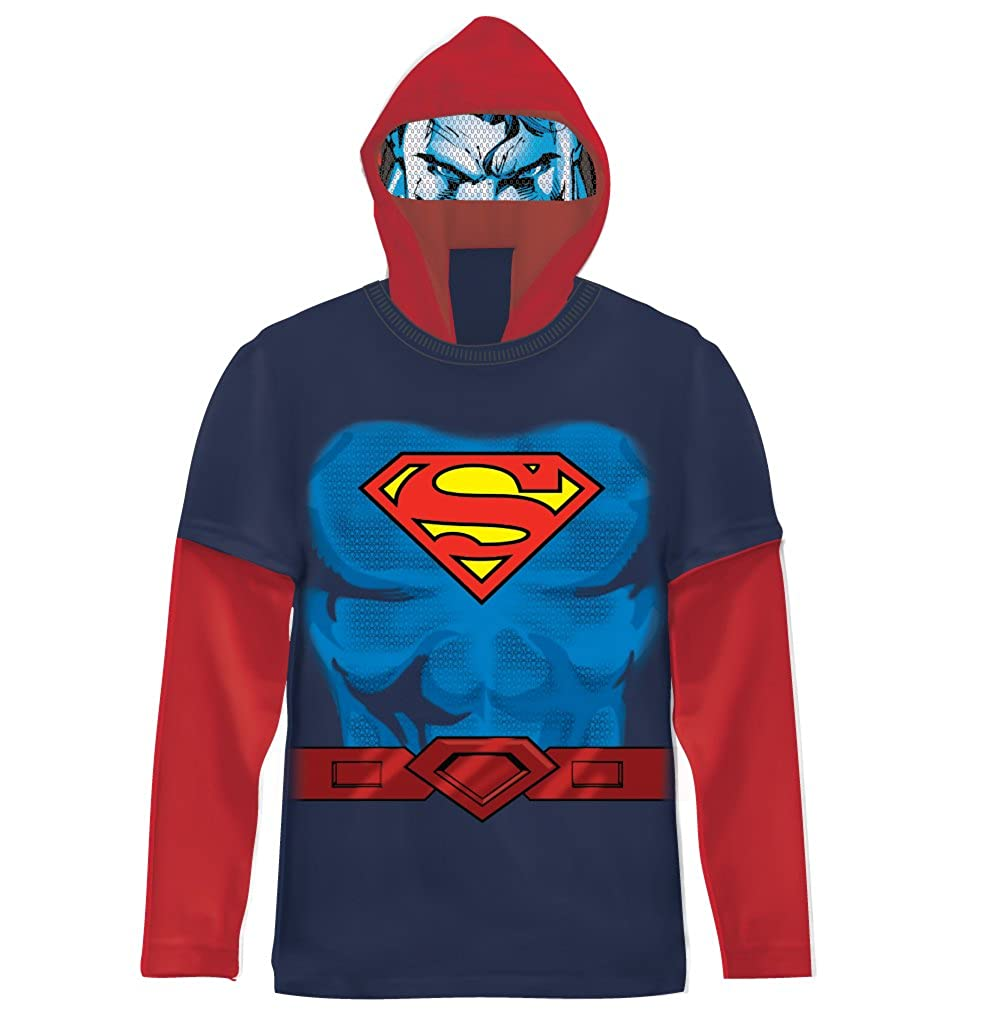 DC Comics Superman Boys Navy Costume T-shirt with Hood