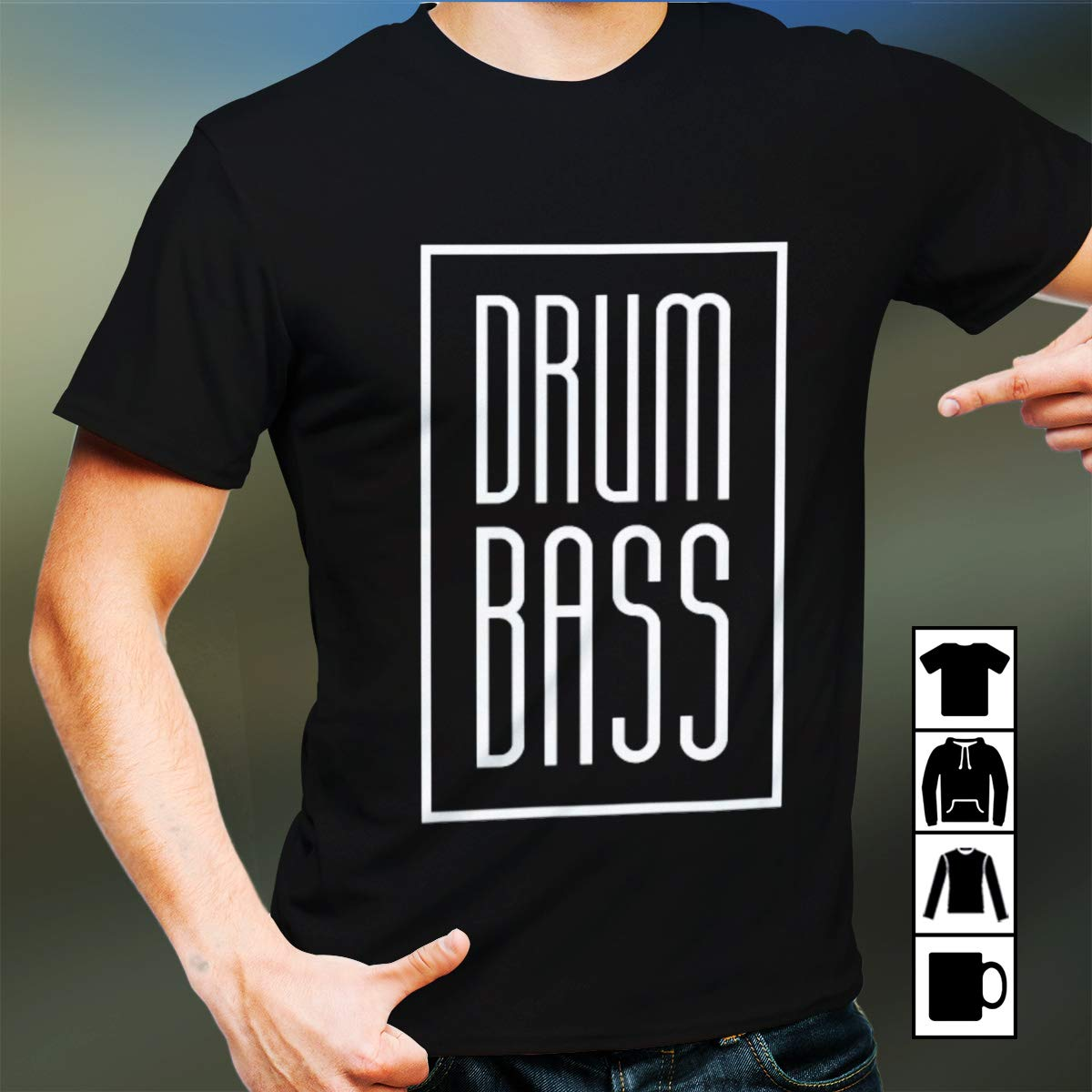 Drums Drum And Bass Drummers T Shirt 9055
