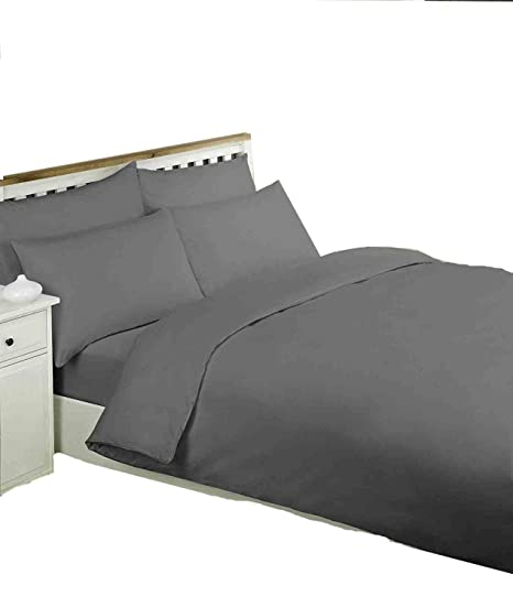 SEERSUCKER DUVET COVER WITH PILLOWCASE 100/% EGYPTIAN COTTON BEDDING QUILT COVERS
