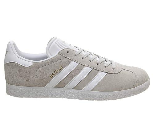 adidas Gazelle, Zapatillas de Gimnasia para Hombre, Gris Grey One F17/Ftwr White/Gold Met, 44 2/3 EU: Amazon.es: Zapatos y complementos