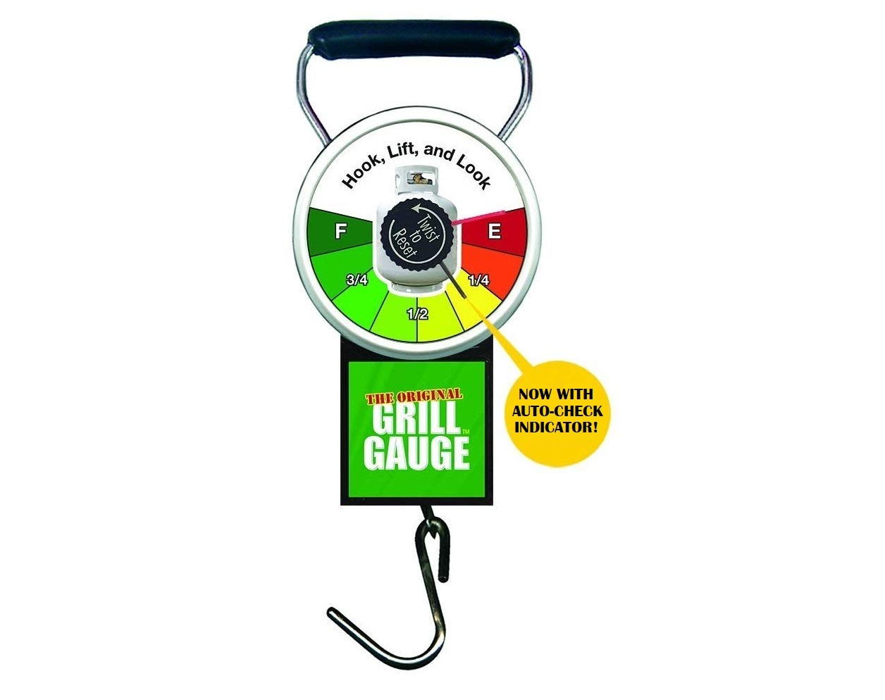 Grill Gauge Original Propane Tank Scale for BBQ Grill, Patio Heater, RV Camper - Improved Design with Easy Lift Indicator - Works on Standard 15/20 lb Labelled Exchange Tanks by Grill Gauge