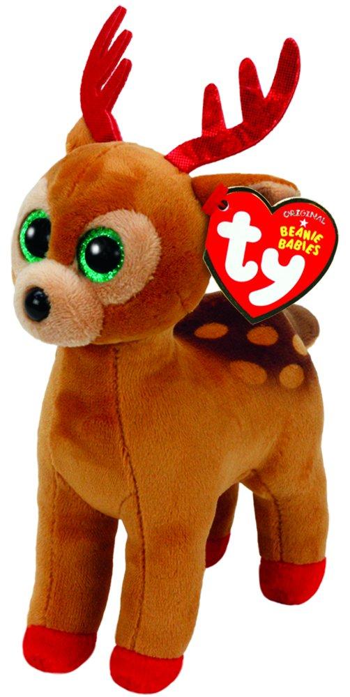 TY TY-37238 Beanie Babies Navidad Tinsel-Reno Marrón 15 cm (37238TY), United Labels Ibérica: Amazon.es: Juguetes y juegos