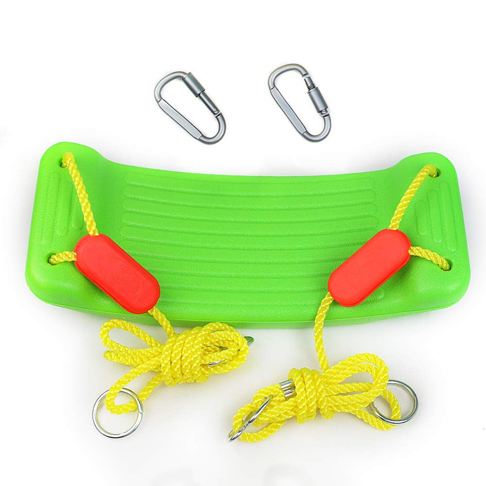 yoptote balançoire pour Enfant Siège de Jardin Balacoire Mousqueton Balancoire Vert pour Les Enfants de Plus 3 Ans SM Toys Factory
