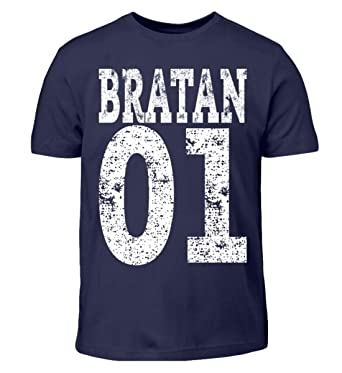 Hip Hop Bratan 01 Rap Brudi Russisch Bruder Brate Geschenk - Kinder T-Shirt