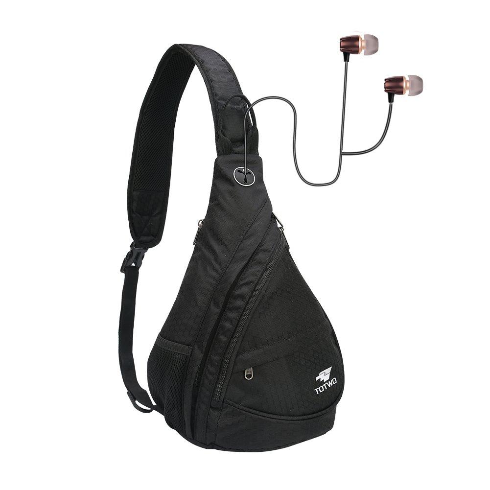 131c8f47b9 Amazon.com  YHLCSQ Anti Theft Sling Bag - Small Chest Shoulder Crossbody  Backpack for Men   Women (Black)  Sports   Outdoors