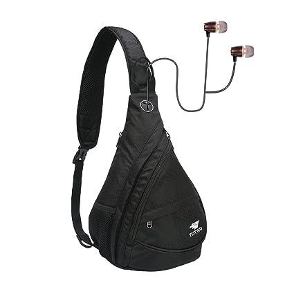 acb47a439b YHLCSQ Anti Theft Sling Bag - Small Chest Shoulder Crossbody Backpack for  Men   Women (