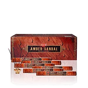 Amber - Box of Six 20 Gram Tubes - HEM Incense