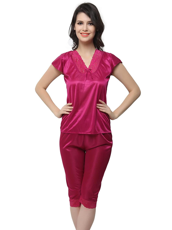 Clovia Nightsuit In Hot Pink