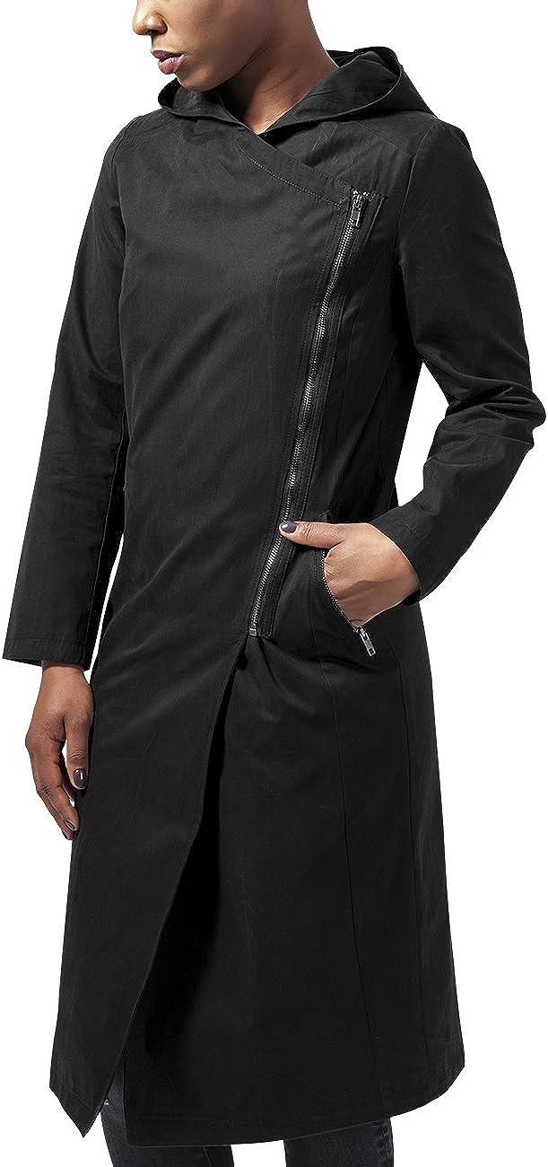 Urban Classics Ladies Peached Long Asymmetric Coat Abrigo para Mujer