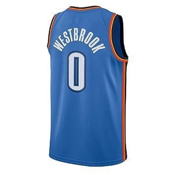 XAELTHL Camisa Bordada Aficionados Thunder Westbrook Jersey para Hombre (Azul-1, XL)