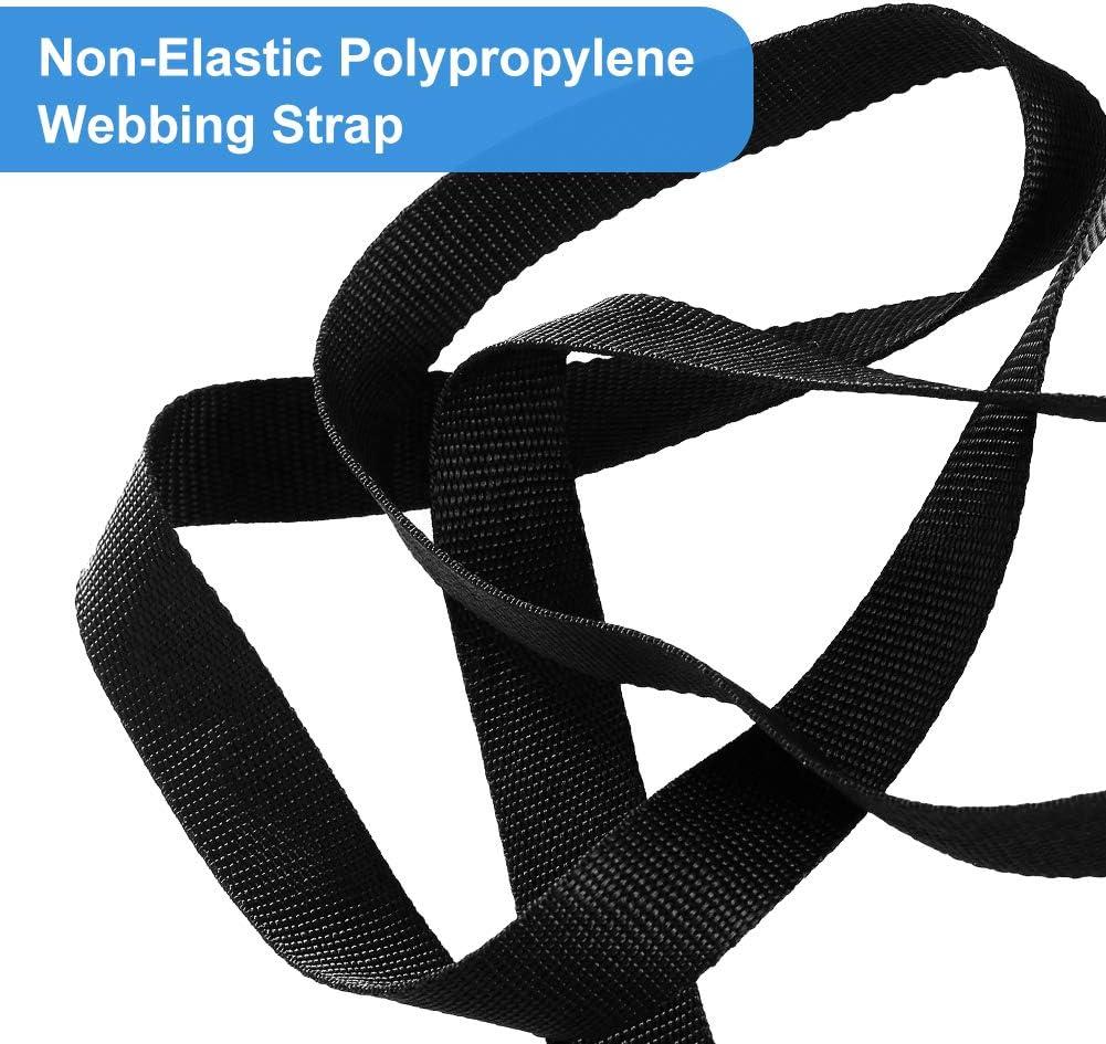10M Tow Ropes Polypropylene Webbing Strap Tape 25mm Wide for DIY Craft Dog Collar 11 Yards Webbing Strap Black Webbing Straps for Bag Making//Backpack Strapping//Outdoor Climbing Luggage Belt