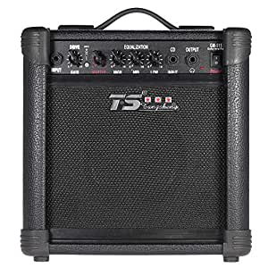 ammoon gm 515 professional 3 band eq 15w electric guitar amplifier amp distortion. Black Bedroom Furniture Sets. Home Design Ideas
