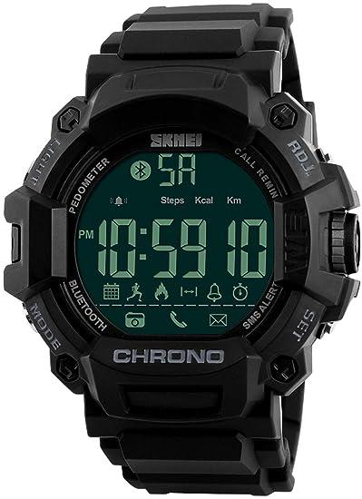 Reloj Deportivo podómetro Reloj Calorías Contador Digital Bluetooth Fitness Relojes Militar Reloj Táctico para Hombres Mujeres Niños: Amazon.es: Relojes