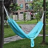 tri peak soli - Portable Parachute Style Cloth Travel Outdoor Camping Garden Hammock blue color