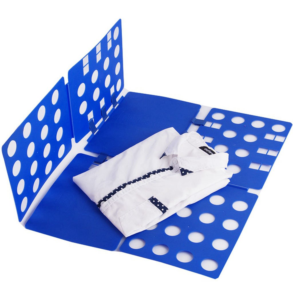 PNBB Plastic Adjustable Magic Fast Folder Clothes T-shirts Folding Board Blue L Size