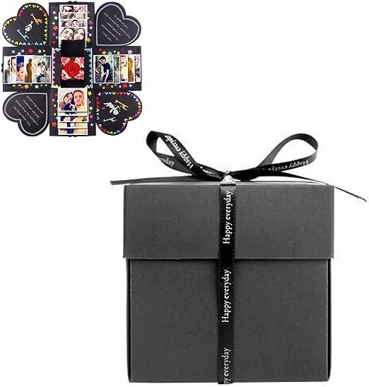 Comtervi Geschenkbox/Sorpresa Caja Explosions de Caja DIY Regalo Plegable endes álbum de Fotos, cumpleaños Aniversario Valentine Boda Regalo, para Bodas, día de la Madre, DIY Regalo: Amazon.es: Juguetes y juegos