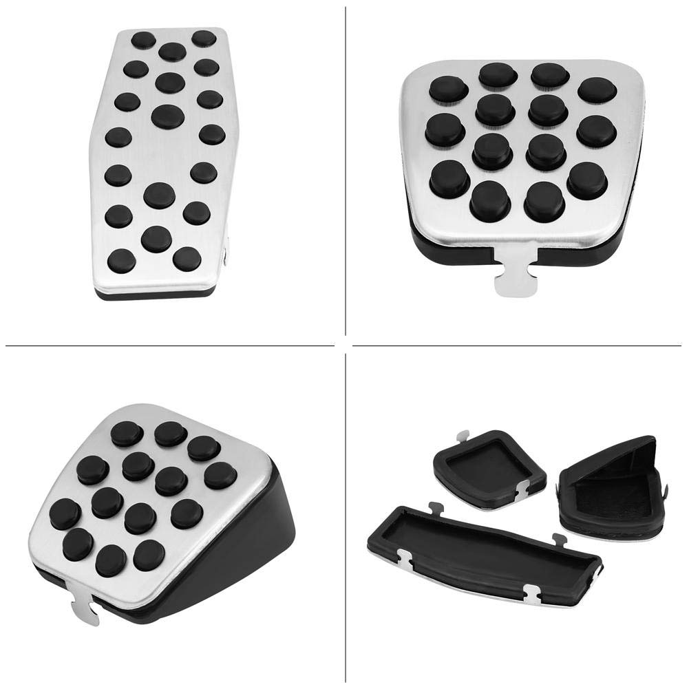 for Manual Vehicle 3pcs Car Clutch Brake Foot Pedals Cover Treadle Non-Slip Pedal Pads Manual Clutch Pedal for Chevro-let C-ruz Vaux-hall
