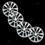 """Silver 16"""" Bolt on Hub Cap Wheel Covers for Nissan Altima - Set of 4"""