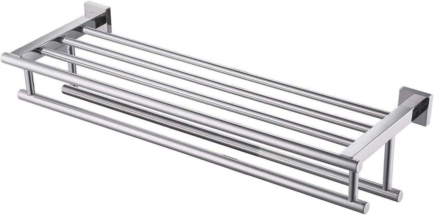 Kes Bathroom Towel Shelf With Double Towel Bar Wall Mounted 23 6 Inch Storage Sus304 Stainless Steel Polished Finish A2112s60 Towel Bars Amazon Canada