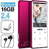 MYMAHDI MP3プレーヤー Bluetooth 4.2 タッチボタン 2.4インチ画面 16GB ポータブルロスレスデジタルオーディオプレーヤー FMラジオ ボイスレコーダー 128GBまで対応 ピンク