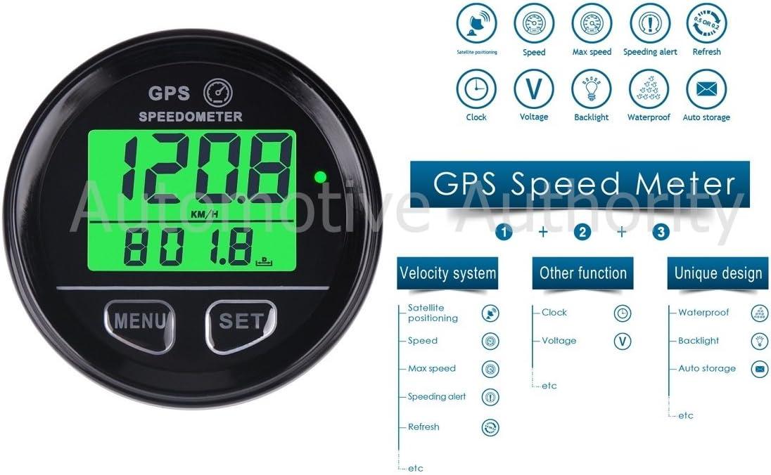 GPS Speedometer Gauge Odometer Battery Meter Digital Dash For ATV UTV Motorcycle Automobile Motor Vehicle