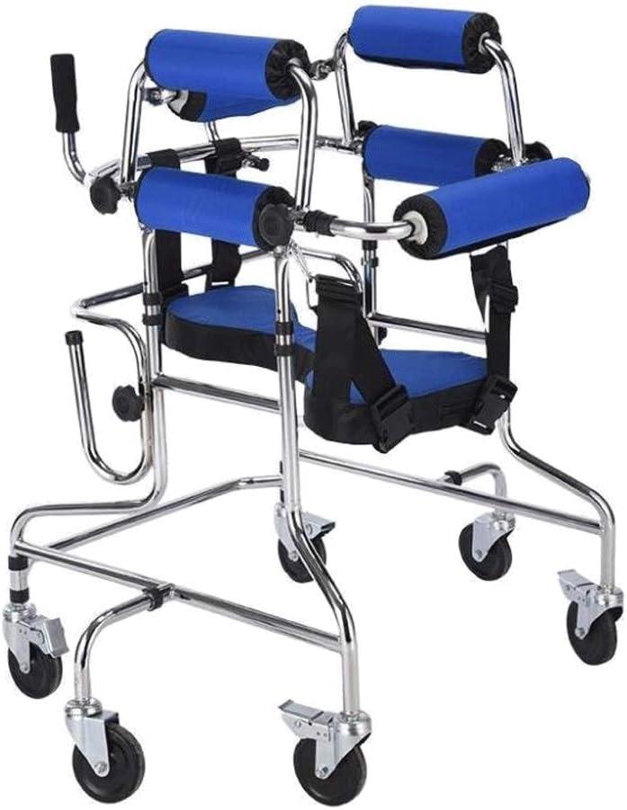 Soporte para axila Andador para Niños Multifuncional Stand andadores con ruedas, Estabilidad Entrenamiento de extremidades Inferiores de pie Apoplejía Hemiplejia de Andadores para discapacidad