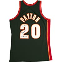 $199 » Gary Payton Autographed Seattle SuperSonics Mitchell and Ness Authentic Swingman Signed Basketball Jersey HOF Glove PSA DNA COA