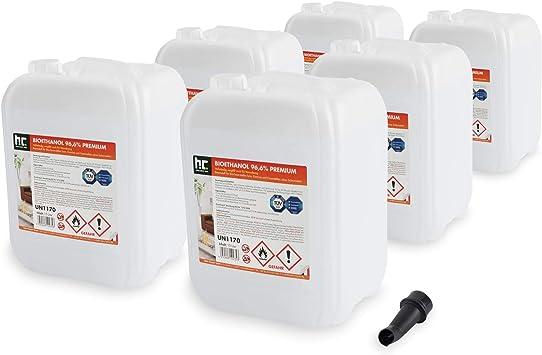 6 X 10 L Bioethanol A 96 6 Denature Frais De Port Offert Qualite Certifiee Bidons De 10 L
