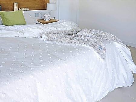 Algodon Blanco - Funda nórdica Snow Cama 150 Cm - Color Blanco: Amazon.es: Hogar