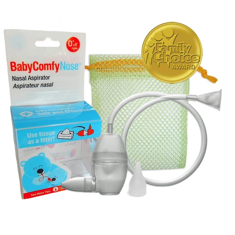 BabyComfy Nasal Aspirator -- The Snotsucker -- Hygienically & Safely Removes Baby's Nasal Mucus - Clear by BabyComfy