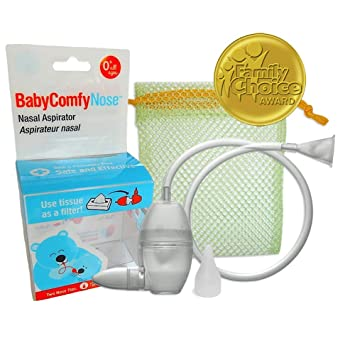 Amazon.com: Baby ComfyNose Aspirador nasal, Transparente: Baby