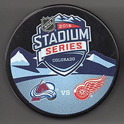2016 Stadium Series Colorado Avalanche vs Detroit Red Wings Coors Field NHL Hockey Puck + FREE Cube