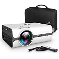 Projector, VANKYO Video Projector 2500 Lux Mini Projector with Carrying Bag and HDMI Cable, Supports 1080P, HDMI, USB, VGA, AV, SD Card, Compatible with Fire TV Stick, PS3/PS4, XBOX