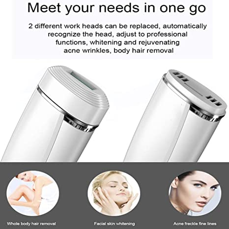 Amazon.com: JMung 2 in 1 IPL Laser Hair Removal Professional Permanent 600000 Flashes Hair Removal Device Beauty Skin Rejuvenation Applicable to Body, ...