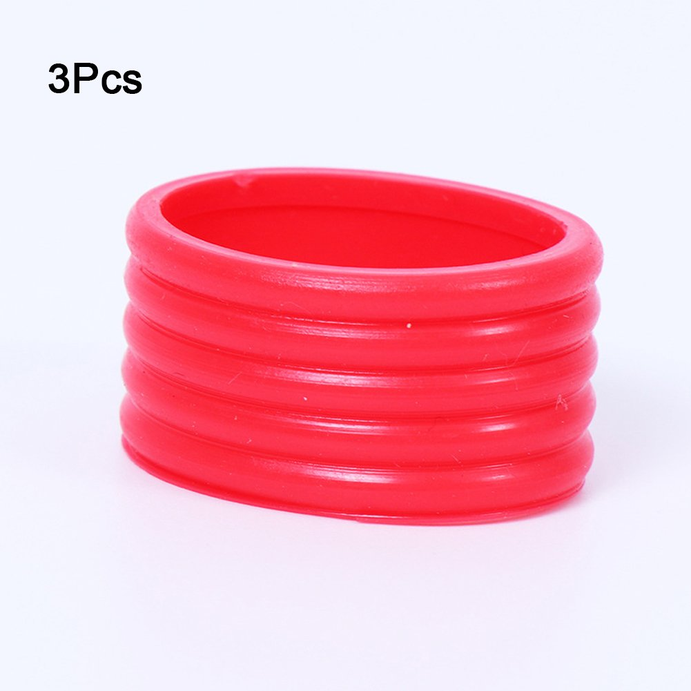 3pcs Tennis Grip Ring Elastic Protector Overgrip Fix Ring Absorbing Stretchy Tookie