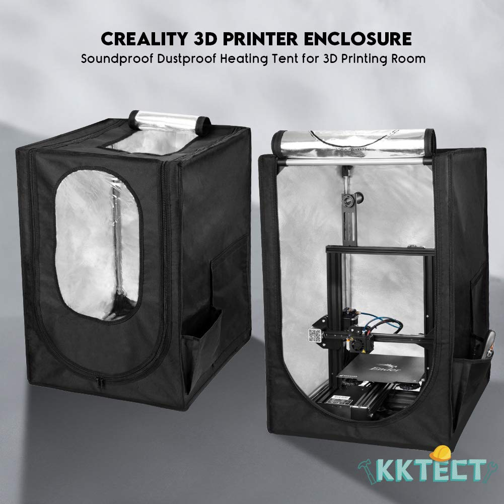 KKTECT 3D Printer Tent Constant Temperature Protective Cover Waterproof Dustproof Fireproof Bag for Ender 3//Ender 3 Pro//Ender 5