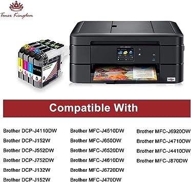 Toner Kingdom Compatible cartuchos de tinta para Brother LC123 ...