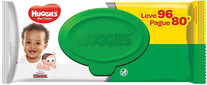 Huggies Lenços Umedecidos Max Clean, 96 Toalhas