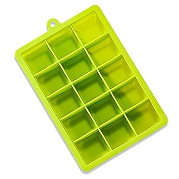 Moldes para cubitos de hielo y bandejas, con tapas de plástico sin BPA para 15