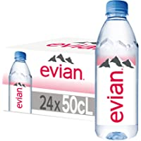evian Mineral Water, Naturally Filtered Drinking Water, 500ml Bottled Water Crafted by Nature, Case of 24 x 500ml evian…
