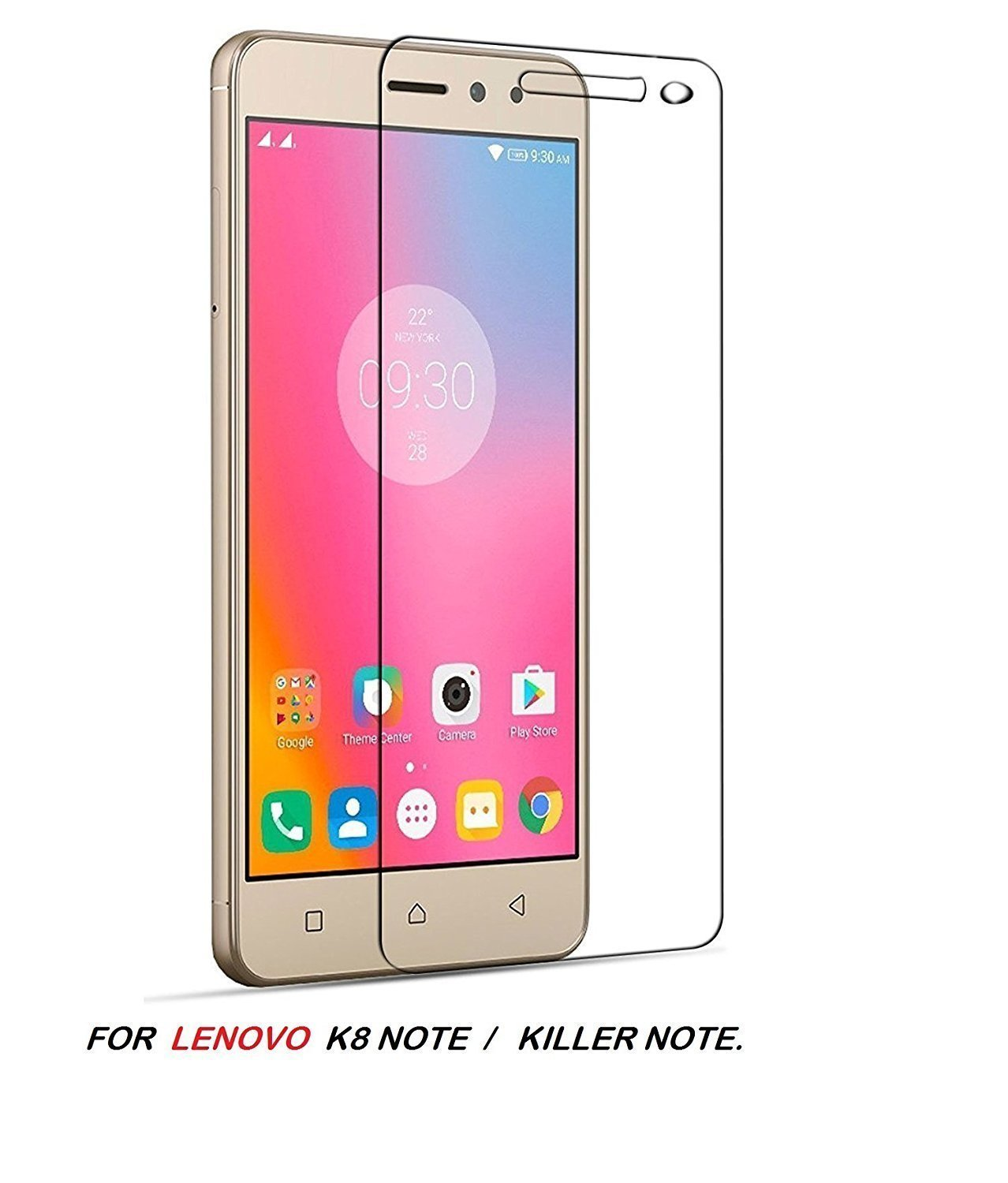 Rooxle Tempered Glass for Lenovo K8 Note with Edge to