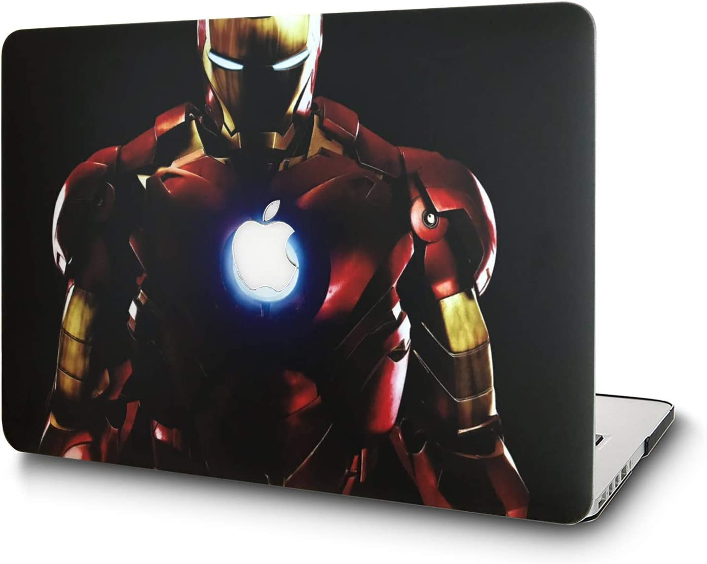 L2W Hard Case for MacBook Air 11.6 Inch Model A1465/A1370 Laptop Computers Accessories Plastic Smooth Print Protective Creative Design Cover Iron Man